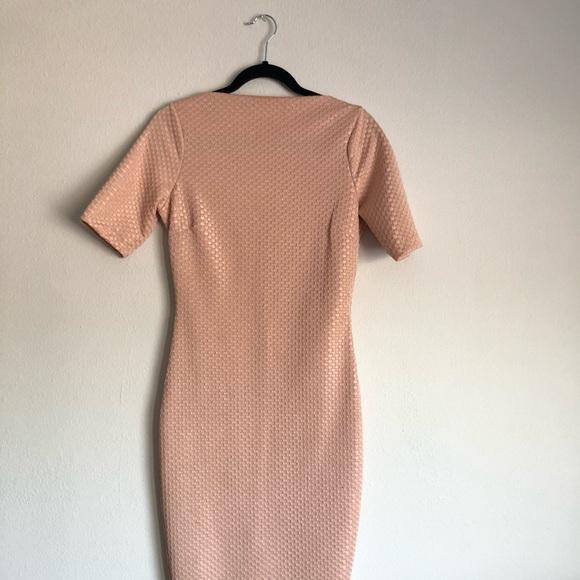 Zara Dresses & Skirts - High Neck Midi Dress Bodycon